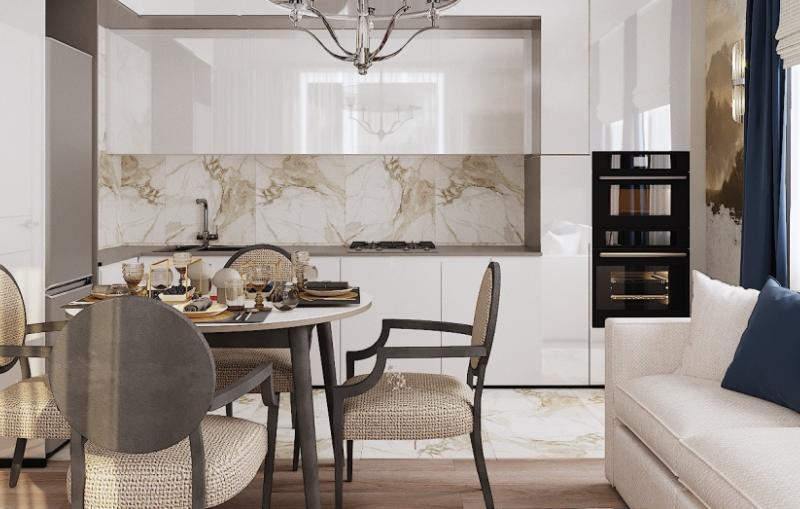 Дизайн интерьера кухни в стиле Американская классика