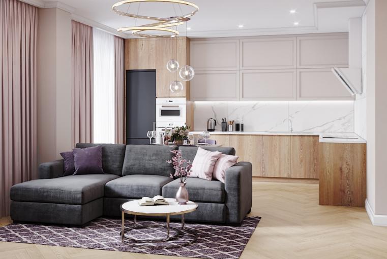 Дизайн-проект интерьера квартиры в стиле американская классика