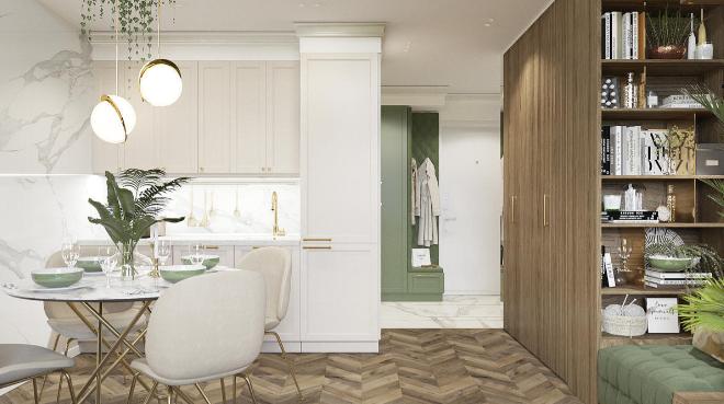 Дизайн интерьера апартаментов в стиле Арт-деко