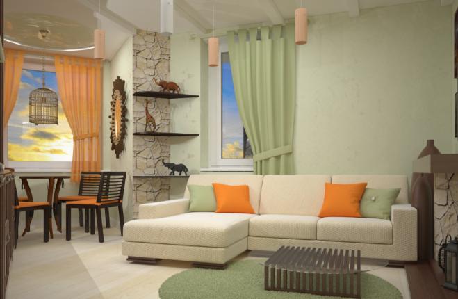 Дизайн интерьера квартиры в африканском стиле