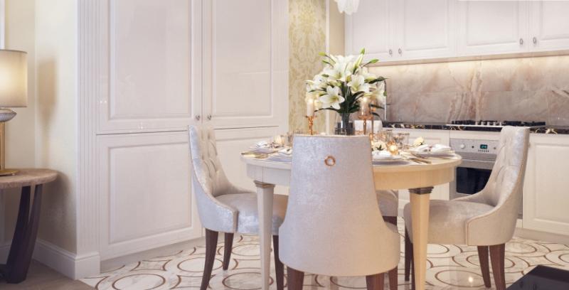 Дизайн интерьера гостиной в стиле Современная классика