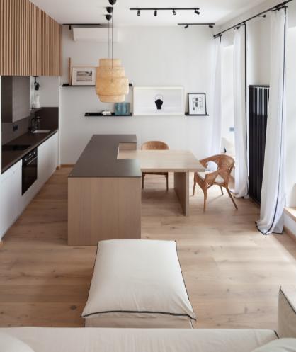 Дизайн-проект апартаментов в скандинавском стиле (40 м²)