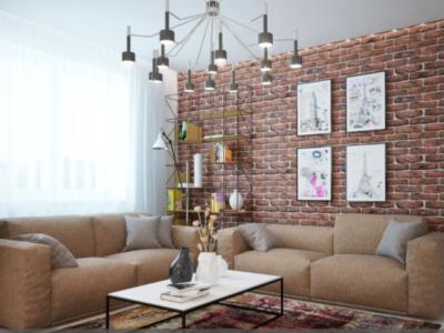 Дизайн-проект интерьера квартиры в стиле урбан