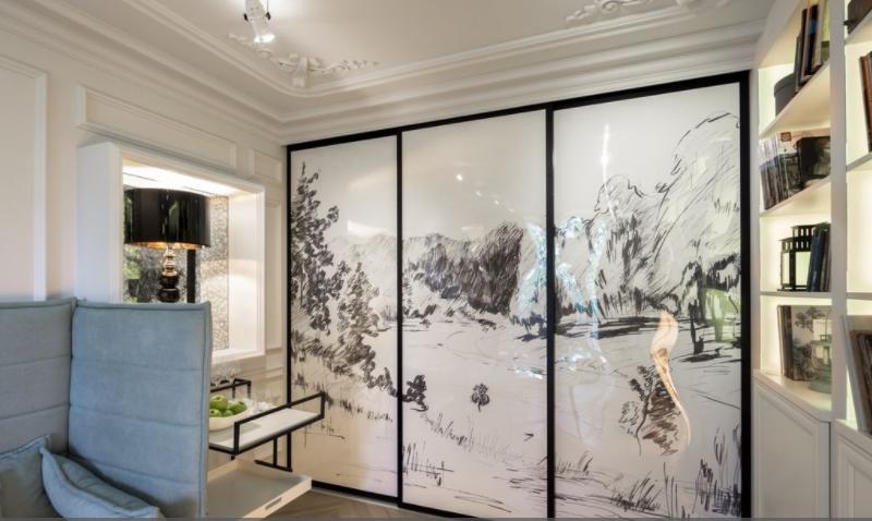 Дизайн-проект интерьера гостиной в стиле французской классики