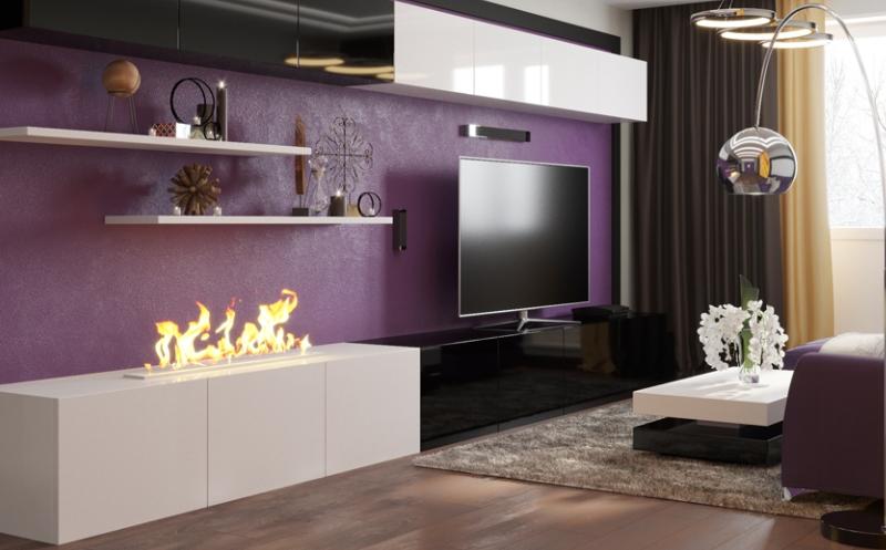 Дизайн интерьера гостиной в стиле Хай-тек