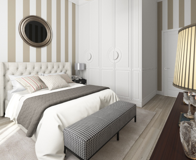 Дизайн-проект спальни в американском стиле