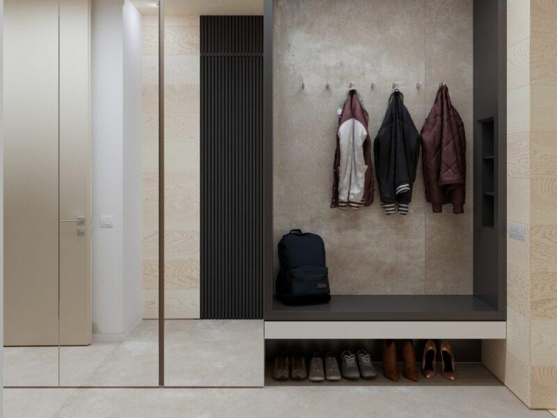 Дизайн-проект апартаментов в стиле минимализм, 130 м²