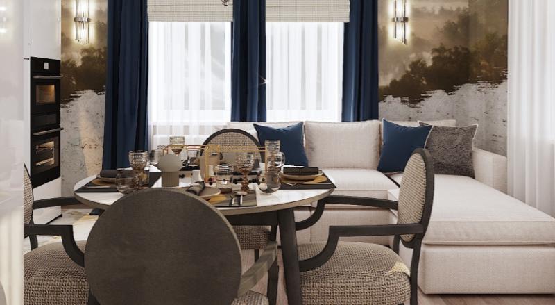 Дизайн интерьера гостиной в Американском стиле