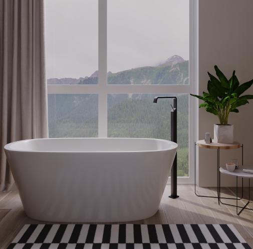 Дизайн-проект интерьера ванной комнаты в эко-стиле