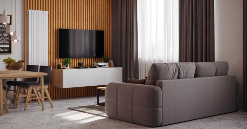 Дизайн-проект интерьера апартаментов в американском стиле (93м²)