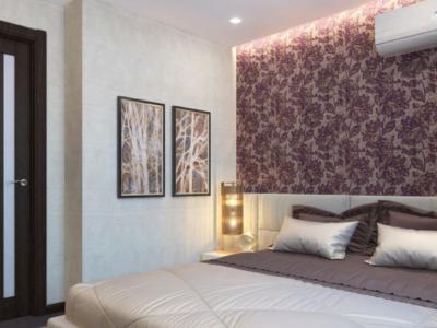 Дизайн-проект интерьера маленькой спальни в современном стиле