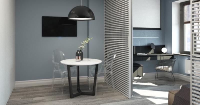 Дизайн-проект апартаментов в стиле хай-тек (29м²)