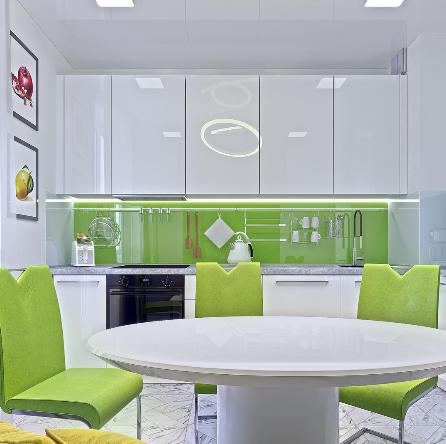Дизайн интерьера кухни в стиле Хай-тек