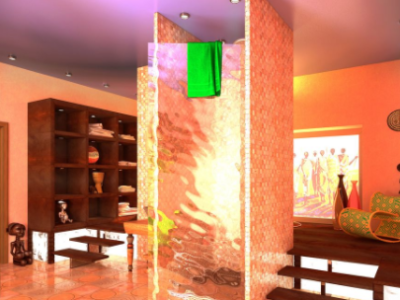 Дизайн интерьера ванной в Африканском стиле