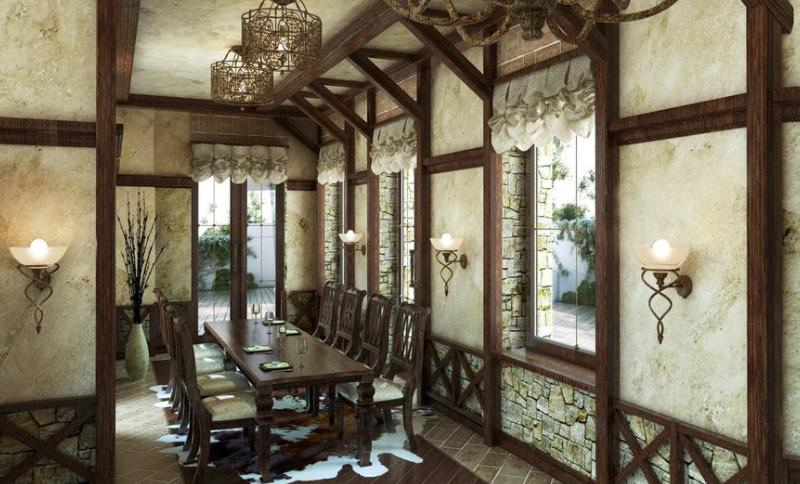 Дизайн интерьера дома в Готическом стиле
