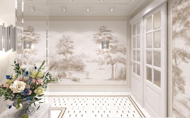 Дизайн-проект интерьера квартиры в стиле современная классика
