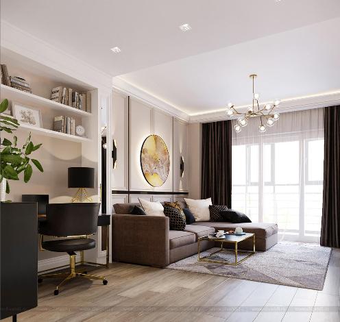 Дизайн интерьера гостиной в стиле Арт-Деко