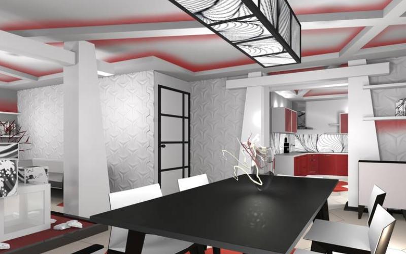 Дизайн-проект интерьера квартиры в японском стиле