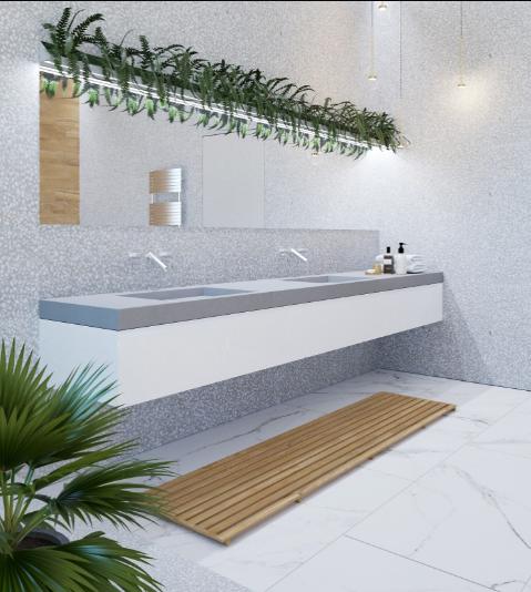 Дизайн интерьера ванной в Эко-стиле