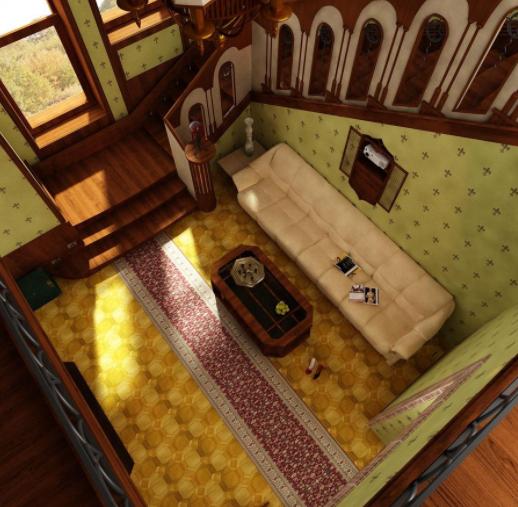 Дизайн интерьера гостиной в Готическом стиле