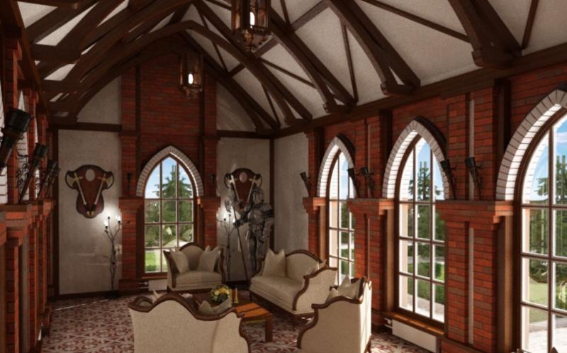 Дизайн-проект интерьера дома в готическом стиле