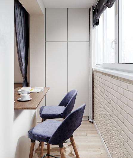 Дизайн интерьера квартиры-студии в Скандинавском стиле