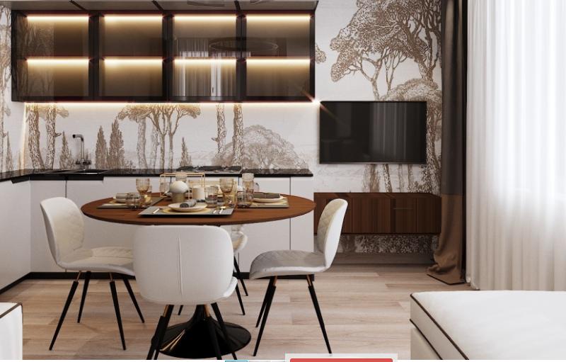 Дизайн интерьера кухни в стиле Контемпорари