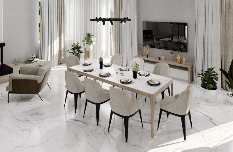 Дизайн-проект интерьера гостиной в стиле модерн